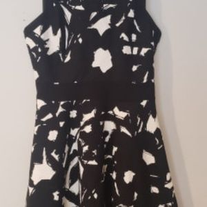Banana Republic Black & White A-Line Dress Size 8